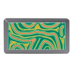 Green and orange lines Memory Card Reader (Mini)