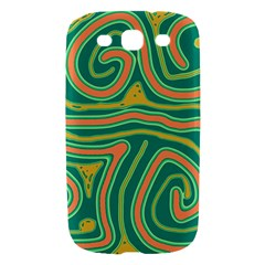 Green and orange lines Samsung Galaxy S III Hardshell Case