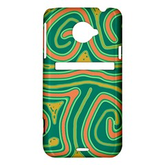 Green and orange lines HTC Evo 4G LTE Hardshell Case