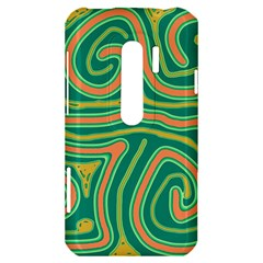 Green and orange lines HTC Evo 3D Hardshell Case