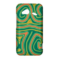 Green and orange lines HTC Droid Incredible 4G LTE Hardshell Case