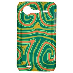 Green and orange lines HTC Incredible S Hardshell Case