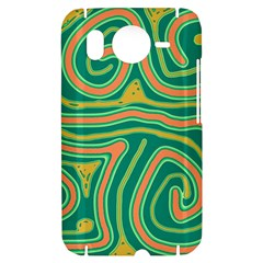 Green and orange lines HTC Desire HD Hardshell Case