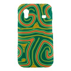 Green and orange lines Samsung Galaxy Ace S5830 Hardshell Case