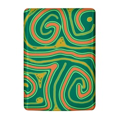 Green and orange lines Kindle 4