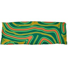 Green and orange lines Body Pillow Case Dakimakura (Two Sides)