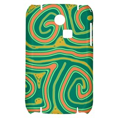 Green and orange lines Samsung S3350 Hardshell Case