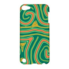 Green and orange lines Apple iPod Touch 5 Hardshell Case