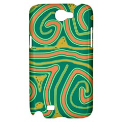 Green and orange lines Samsung Galaxy Note 2 Hardshell Case