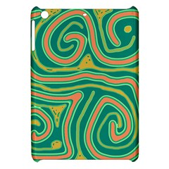 Green and orange lines Apple iPad Mini Hardshell Case