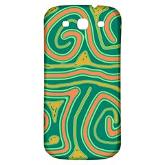 Green and orange lines Samsung Galaxy S3 S III Classic Hardshell Back Case