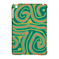 Green and orange lines Apple iPad Mini Hardshell Case (Compatible with Smart Cover)