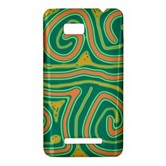 Green and orange lines HTC One SU T528W Hardshell Case
