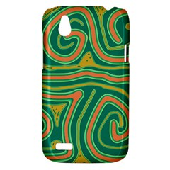 Green and orange lines HTC Desire V (T328W) Hardshell Case