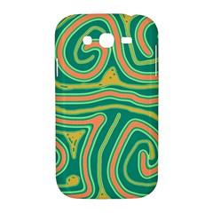 Green and orange lines Samsung Galaxy Grand DUOS I9082 Hardshell Case
