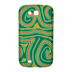 Green and orange lines Samsung Galaxy Grand GT-I9128 Hardshell Case