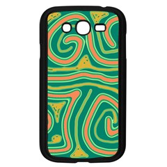 Green and orange lines Samsung Galaxy Grand DUOS I9082 Case (Black)