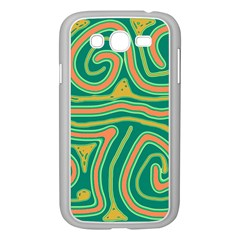 Green and orange lines Samsung Galaxy Grand DUOS I9082 Case (White)