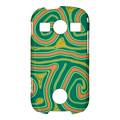 Green and orange lines Samsung Galaxy S7710 Xcover 2 Hardshell Case