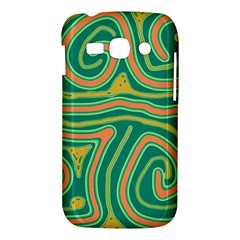 Green and orange lines Samsung Galaxy Ace 3 S7272 Hardshell Case