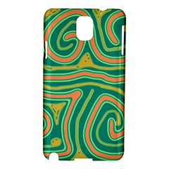 Green and orange lines Samsung Galaxy Note 3 N9005 Hardshell Case