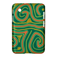 Green and orange lines Samsung Galaxy Tab 2 (7 ) P3100 Hardshell Case