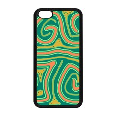 Green and orange lines Apple iPhone 5C Seamless Case (Black)