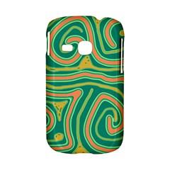 Green and orange lines Samsung Galaxy S6310 Hardshell Case