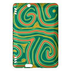 Green and orange lines Kindle Fire HDX Hardshell Case