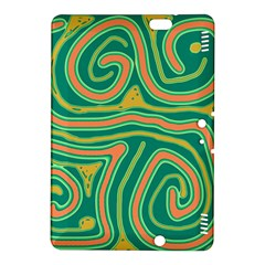 Green and orange lines Kindle Fire HDX 8.9  Hardshell Case