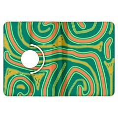 Green and orange lines Kindle Fire HDX Flip 360 Case