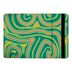 Green and orange lines Samsung Galaxy Tab Pro 10.1  Flip Case
