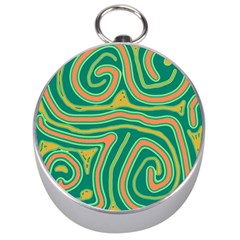 Green and orange lines Silver Compasses