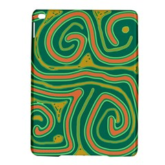 Green and orange lines iPad Air 2 Hardshell Cases