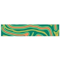 Green and orange lines Flano Scarf (Small)