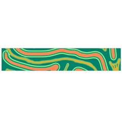 Green and orange lines Flano Scarf (Large)