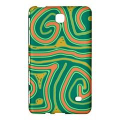 Green and orange lines Samsung Galaxy Tab 4 (7 ) Hardshell Case
