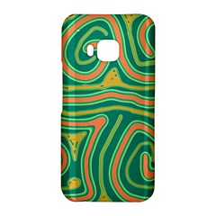 Green and orange lines HTC One M9 Hardshell Case