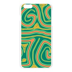 Green and orange lines Apple Seamless iPhone 6 Plus/6S Plus Case (Transparent)