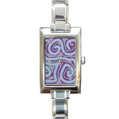 Purple lines Rectangle Italian Charm Watch