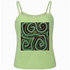 Purple lines Green Spaghetti Tank