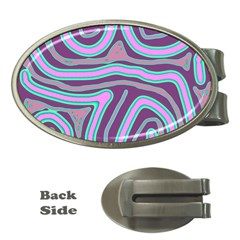 Purple lines Money Clips (Oval)