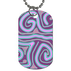 Purple lines Dog Tag (One Side)