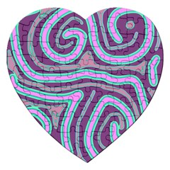 Purple lines Jigsaw Puzzle (Heart)
