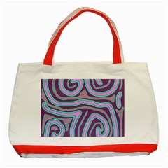 Purple lines Classic Tote Bag (Red)