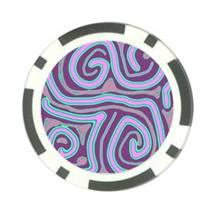 Purple lines Poker Chip Card Guards