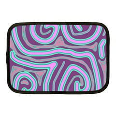 Purple lines Netbook Case (Medium)