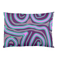 Purple lines Pillow Case
