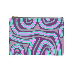 Purple lines Cosmetic Bag (Large)