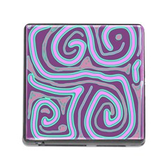 Purple lines Memory Card Reader (Square)